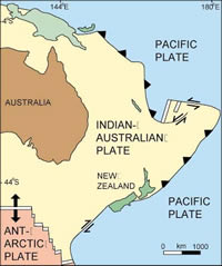 New Zealand Tectonic  Setting