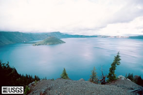 Crater Lake and Wizard Island USGS