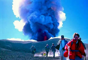 Escape from Mt Etna 2000/ Paul Gunning