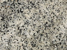 Yosemite Granite USGS white appearing minerals are quartz and feldspars. Black specs biotite mica and amphibole