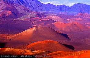 Haleakala volcano Hawaii Maui. This is  Red Crater