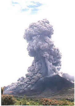 A violent eruption of the Soufriere Hills volcano on Montserrat MVO
