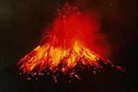 Types of volcanic eruption Strombolian